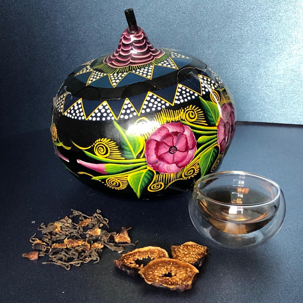 El té como una obra de arte o artesanía de lujo
